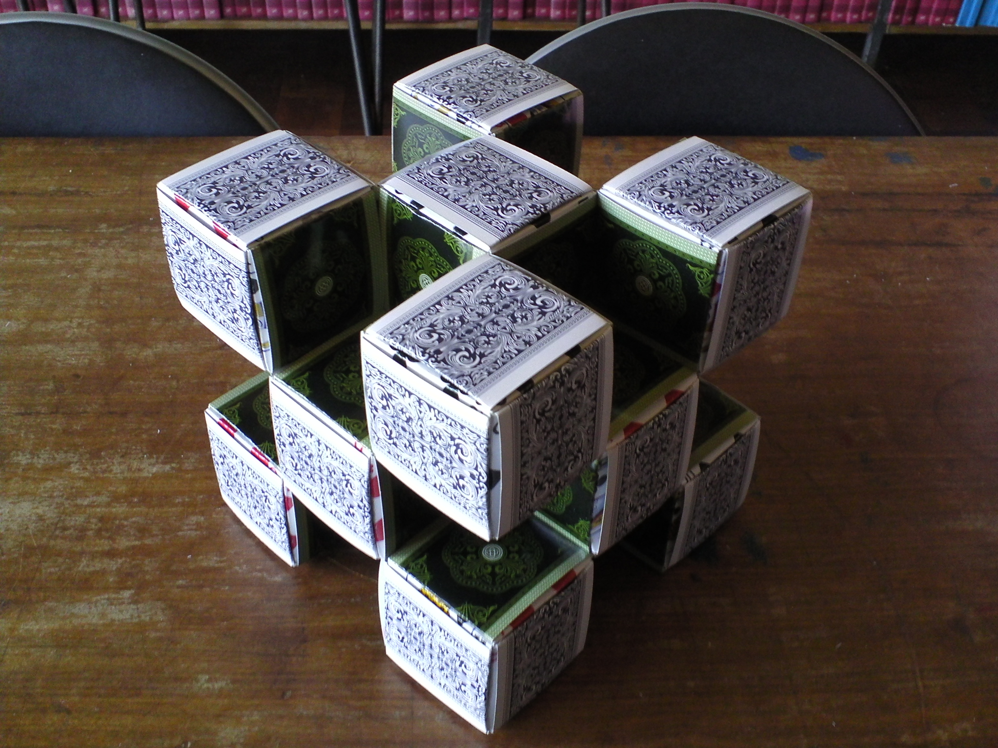 Playing cards origami mathematics origami level 1 3d box fractal magicingreecefo Gallery
